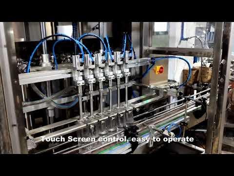 automatique 6 têtes de distribution de détergent liquide de chlore remplissant la ligne de machine de remplissage