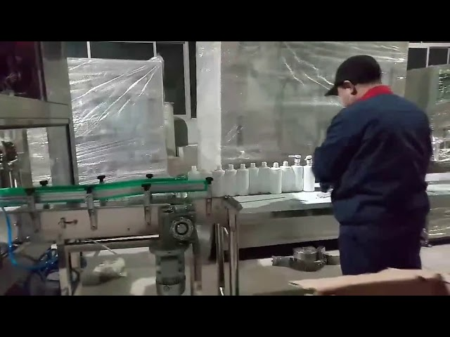 machine de ligne d'embouteillage de remplissage de gel de savon à la main