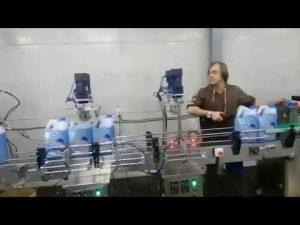 ligne automatique de machine de remplissage d'agent de blanchiment liquide désinfectant anti-corrosif pour toilettes