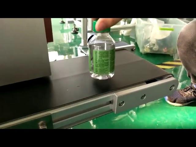 machine à étiquettes d'autocollant de bureau pour les bouteilles d'eau en plastique