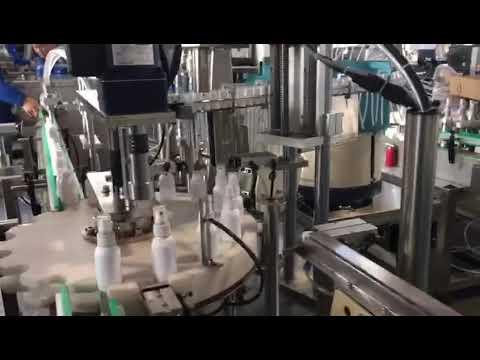 machine de remplissage liquide de désinfectant, machine de remplissage de désinfectants à l'éthanol