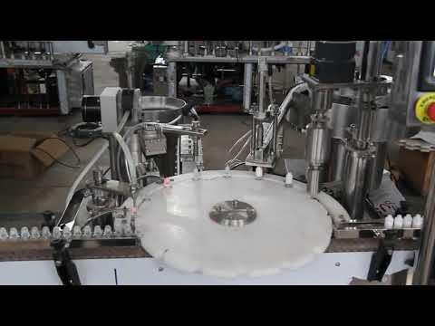 machine de remplissage automatique de collyre, machine de remplissage et de scellage de petites bouteilles