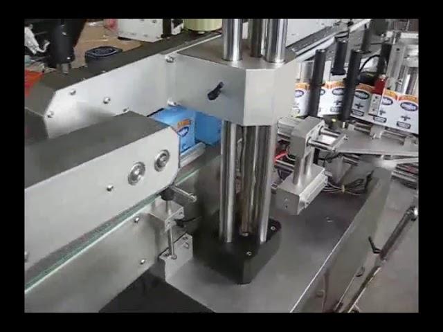 double machine d'étiquetage automatique d'autocollant de bouteille de côtés pour la bouteille ronde