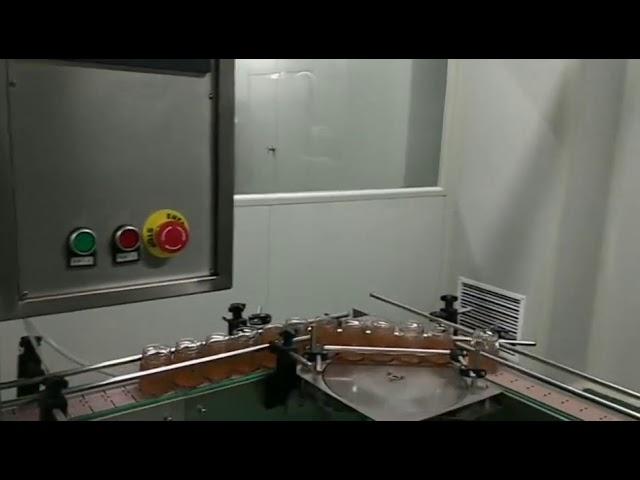 automatique bouteille de confiture de fruits pot pâtes sauce lavage remplissage bouchage machine d'étiquetage