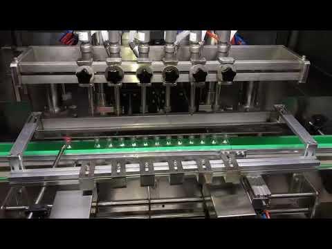 machine de remplissage automatique de gel de désinfectant d'alcool pour l'industrie chimique quotidienne