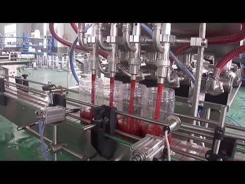 machine de remplissage automatique d'emballage de bouteille d'huile de palme