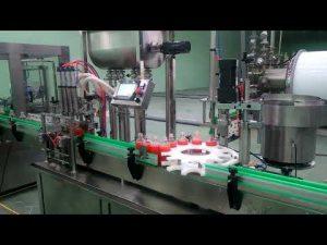 Machine de remplissage et de capsulage automatique 4 têtes