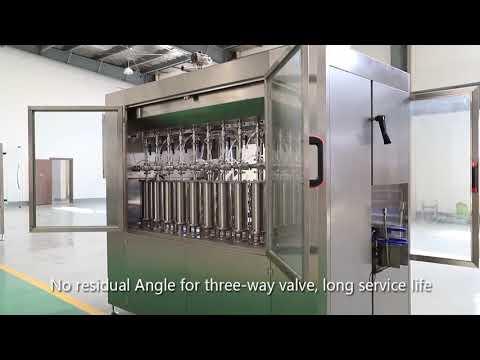 piston automatique bouteille en verre pour animaux de compagnie huile liquide remplissage bouchage ligne d'étiquetage machine
