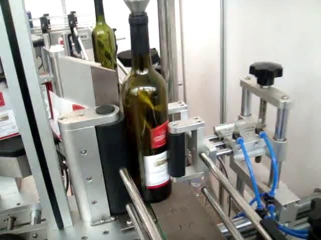 machine à étiquettes automatique à grande vitesse double face et bouteille ronde