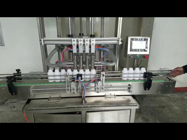 machine de remplissage de bouteilles de pâte liquide visqueuse automatique pour savon liquide, lotion pour le corps, shampooing