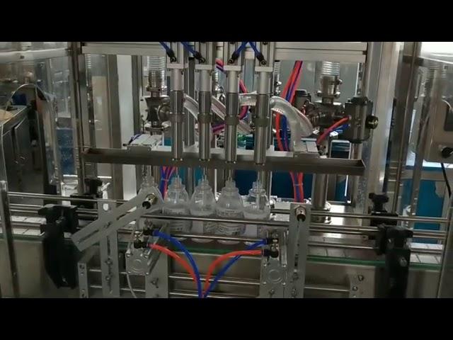 machine de remplissage automatique de détergent d'alcool de désinfectant pour les mains