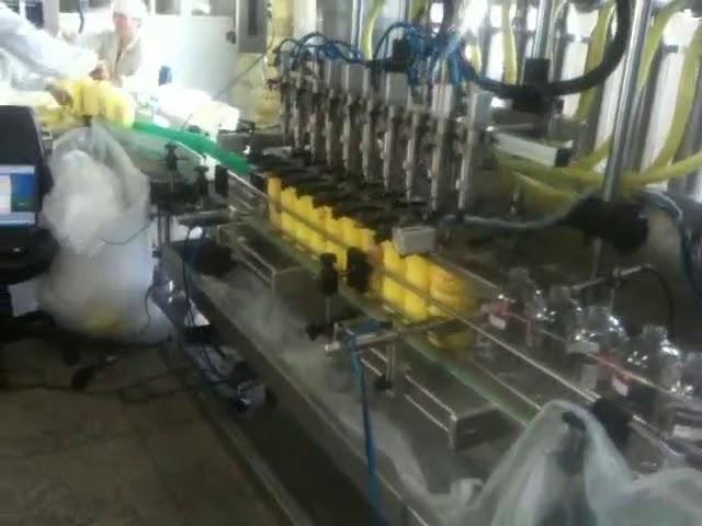 machine de remplissage automatique de shampooing de becs de plongée de piston