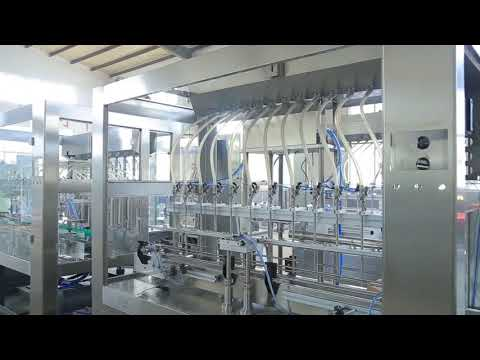 Usine automatique linéaire visqueuse liquide comestible liquide bouteille d'huile pot machine de remplissage